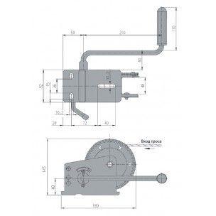 Лебедка буксировочная AL-KO Compact без тормоза нагрузка 500 кг без троса