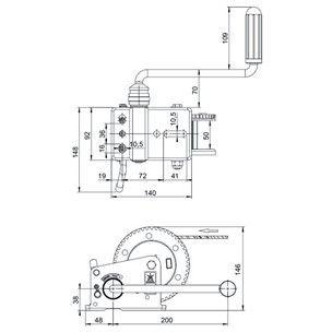Лебедка AL-KO Basic 500 без тормоза нагрузка 500 кг без троса