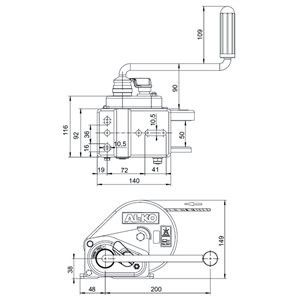 Лебедка AL-KO Basic 450A с тормозом нагрузка 450 кг без троса