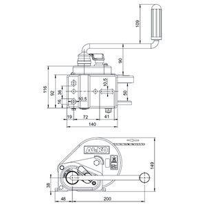Лебедка AL-KO Basic 450A с тормозом нагрузка 450 кг синтетический трос 6 метров