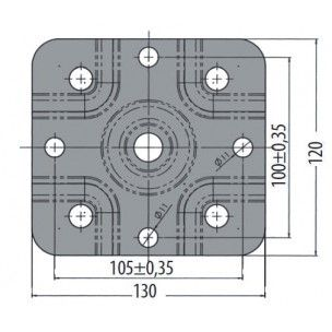 Поворотный хомут крепления опорного колеса AL-KO со штоком 48 мм к дышлу