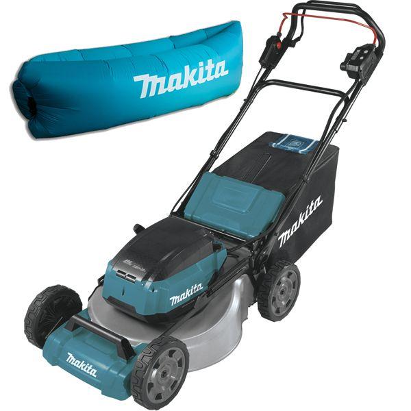 Аккумуляторная газонокосилка Makita DLM532PT4 + ламзак